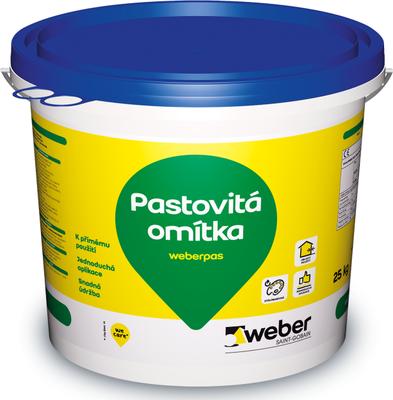 Omítka pastovitá weberpas silikát 3 mm 25 kg