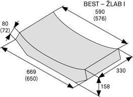 Betonový žlab Best ŽLAB I 8 cm přírodní