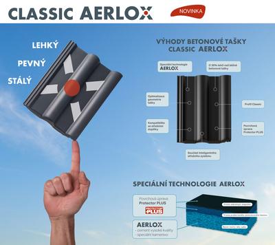Classic PP AERLOX taška základní 1/1 rubínově červená - 2