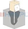 Patka kotevní do betonu Hašpl Typ U 120x120x4,0 - 2/3