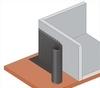 Nopová fólie LINOP 08-D 400g/nop 8mm/1 x 20m (20m2/bal, 480m2/pal) - 2/2