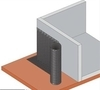 Nopová fólie LINOP 08-D 400g/nop 8mm/0,5 x 20m (10m2/bal, 480m2/pal) - 2/2