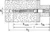 Hmoždinka rámová FUR 10x100 T     50ks/bal - 2/2
