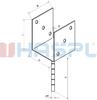 Patka kotevní do betonu Hašpl Typ U 120x120x4,0 - 3/3